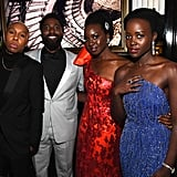 Pictured: Lena Waithe, John David Washington, Danai Gurira, and Lupita Nyong'o
