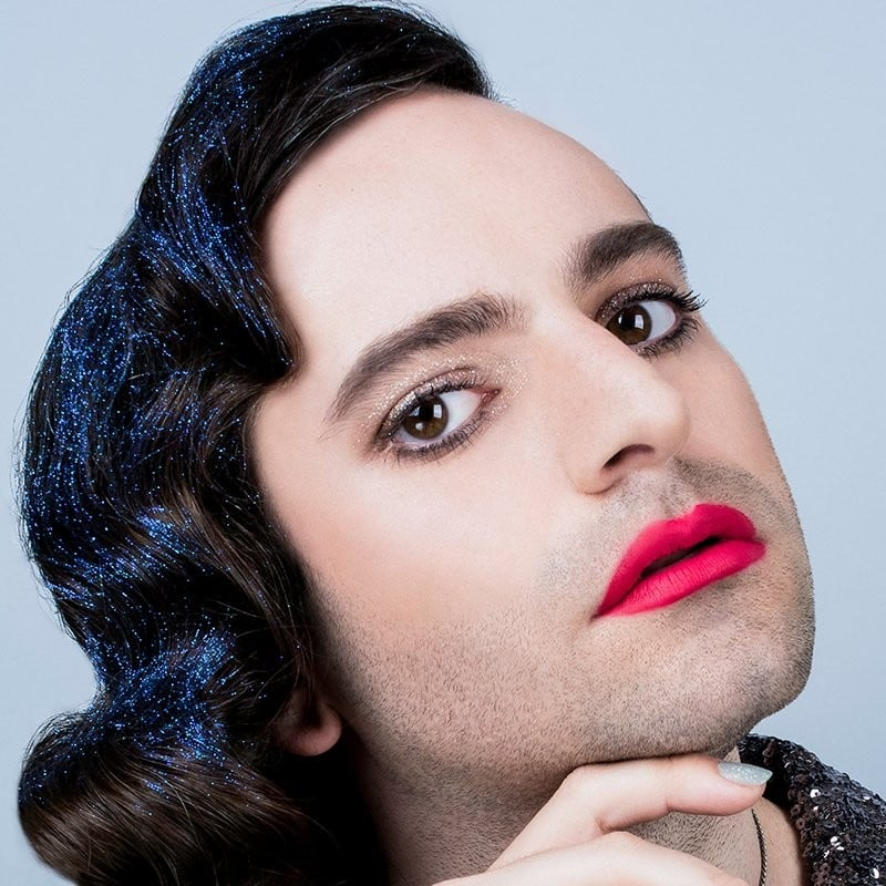 Jacob Tobia in Nonbinary Fluide Makeup Campaign