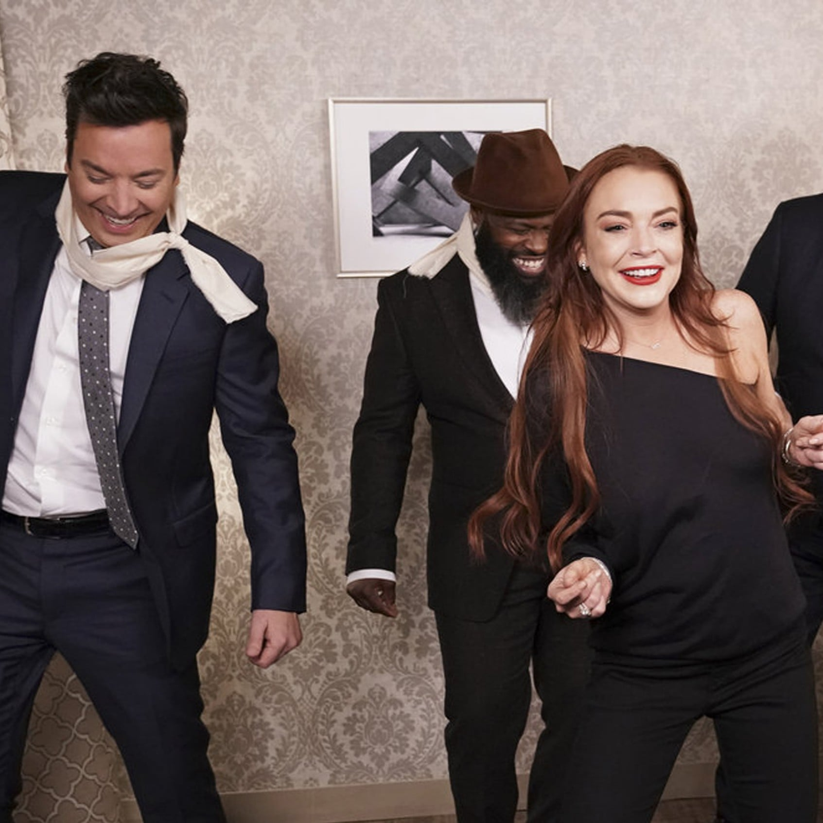 Jimmy Fallon S Bird Box Parody With Lindsay Lohan Video Popsugar