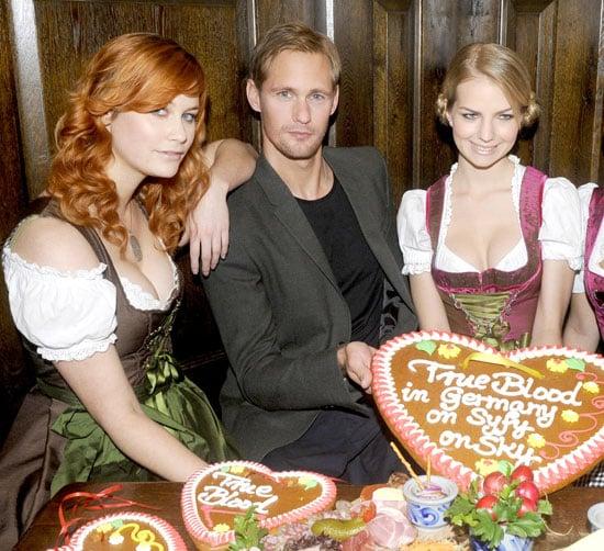 Pictures of Alexander Skarsgard in Munich Celebrating True Blood's Debut on German TV