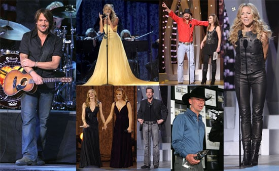 Carrie and Kenny Shine at the Country Music Awards