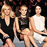 Jane Krakowski, Maggie Grace, and Ashley Green shared the front row at Kaufman Franco on Monday.