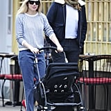 Sienna Miller wore bright red flats for a stroll around NYC.
