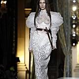 Bella Hadid on the Vivienne Westwood Fall 2020 Runway at Paris Fashion Week