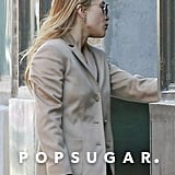 She Amped Up Her Look With a Beige Blazer and Round Sunglasses