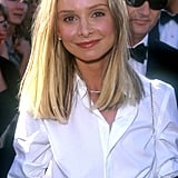 Calista Flockhart's Blonde Lob