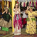 Kate Middleton followed the dancers lead in Tuvalu.