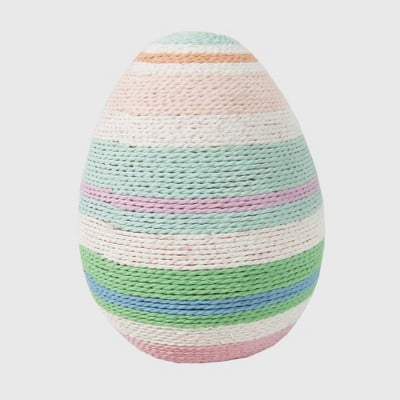 Large Easter Yarn Wrapped Cool Egg