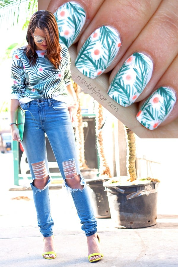 This Tropical Nail Art DIY Was Inspired by a Jumper!