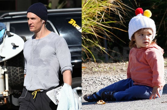 Photos of Matthew McConaughey and Levi McConaughey Wearing a Pom Pom Hat in Malibu