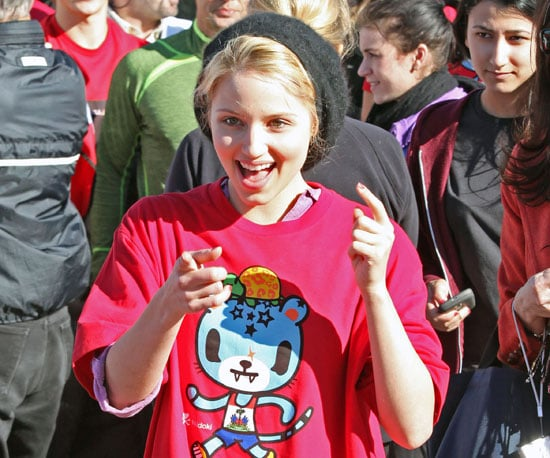 Slide Photo Of Dianna Agron At The Youth Run 4 Haiti In Santa Monica Popsugar Celebrity