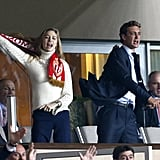 The duo couldn't contain their excitement while cheering at the Champions League Quarter Final match in April 2015 in Monaco.