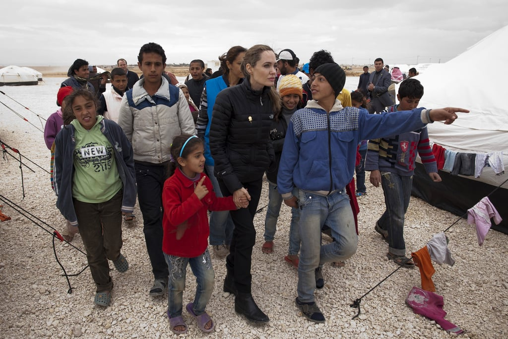 Angelina Jolie travled to Jordan with the UNHCR.
