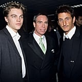 Leo hung with Sean Penn and Tommy Hilfiger at a charity event in November 1997.