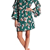 TOV Pleated Bell Sleeve Floral Dress