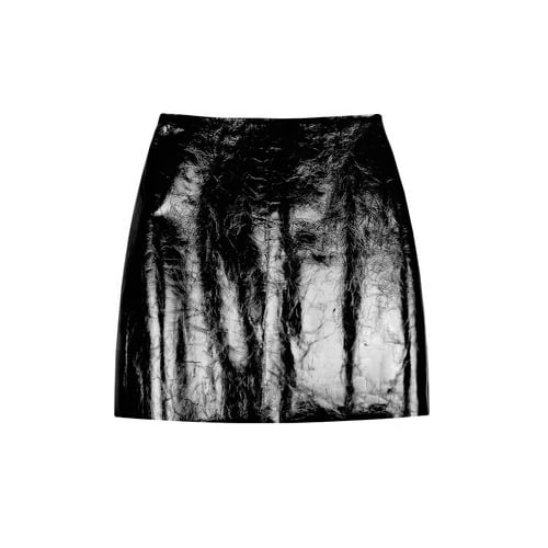 Willow's Leather Mini Skirt ($208) is pretty much Winter basic, but the patent crinkle finish gives it a party appeal — especially when worn with an embellished top and sleek boots.