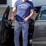 Ben Affleck dressed down for a day of work.