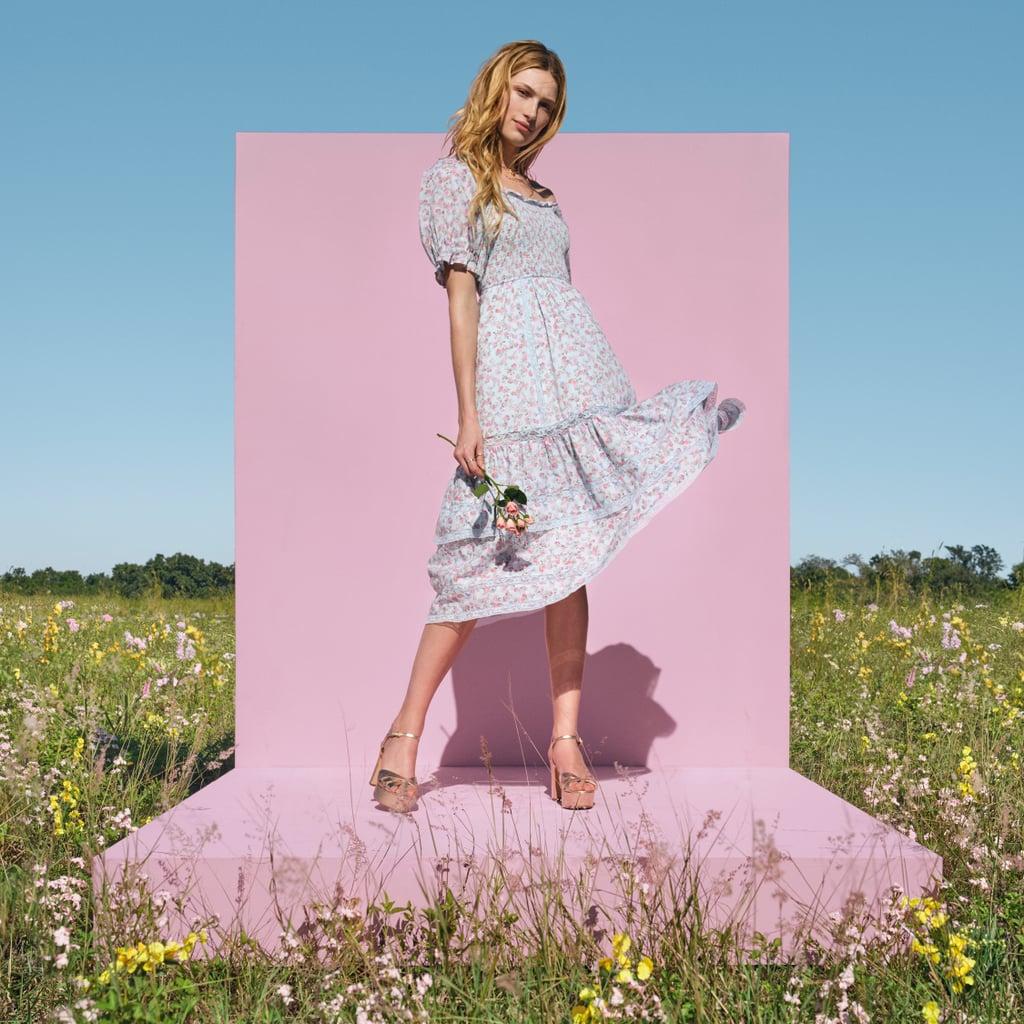 LoveShackFancy for Target Celeste Smocked Puff Sleeve Dress
