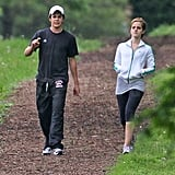 Emma Watson Explores Pittsburgh With a Cute Costar During a Break From Shooting