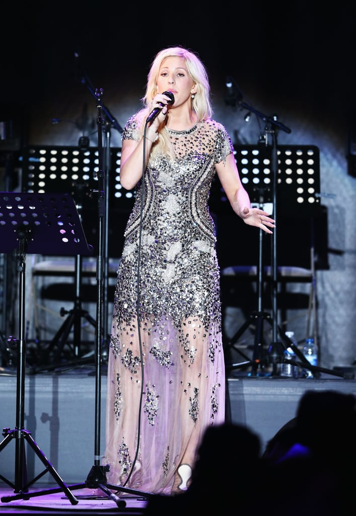 Ellie Goulding performed at the amfAR gala on Thursday during the Cannes Film Festival.