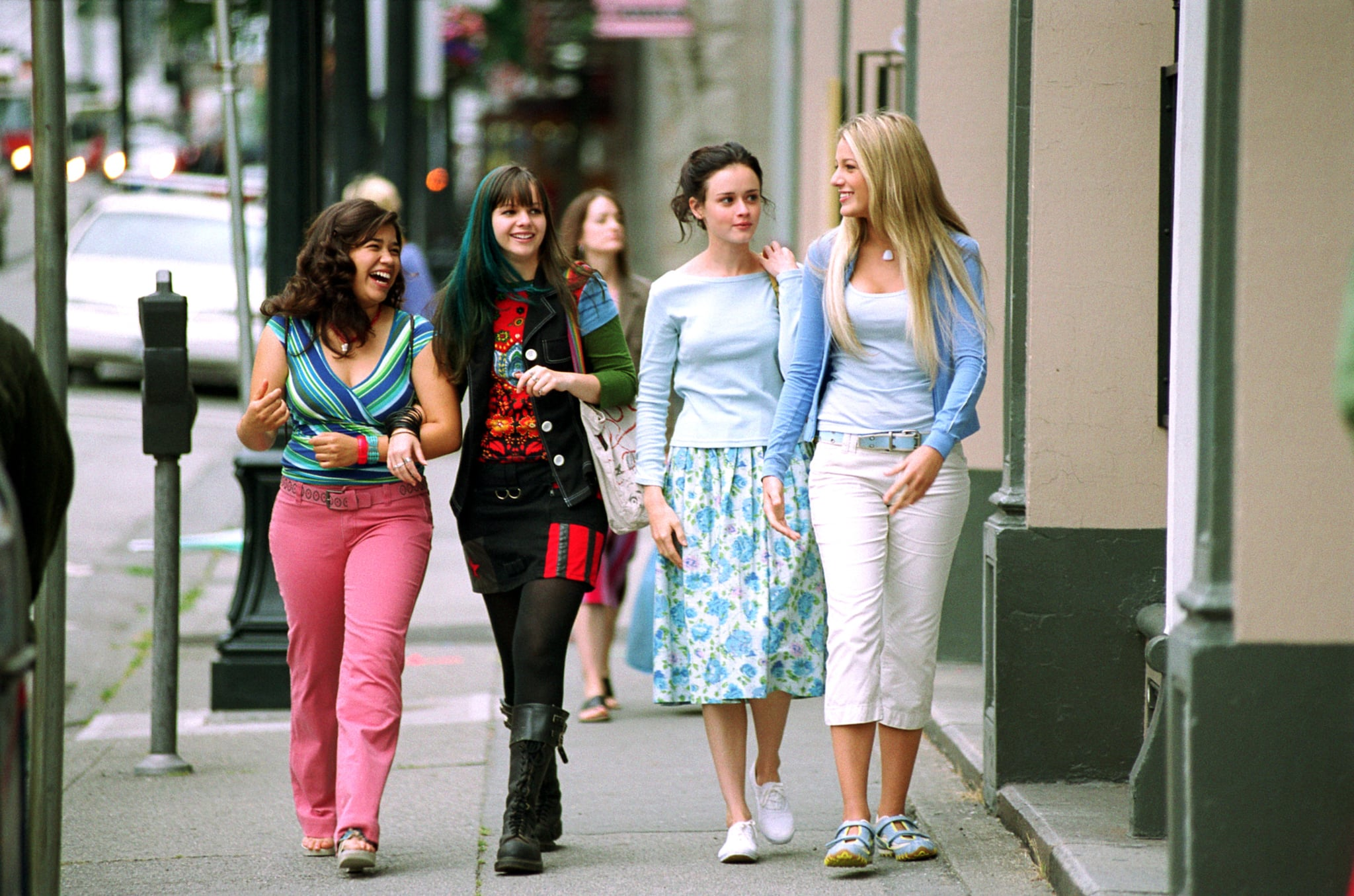 THE SISTERHOOD OF THE TRAVELING PANTS, America Ferrera, Amber Tamblyn, Alexis Bledel, Blake Lively, 2005, (c) Warner Brothers/courtesy Everett Collection
