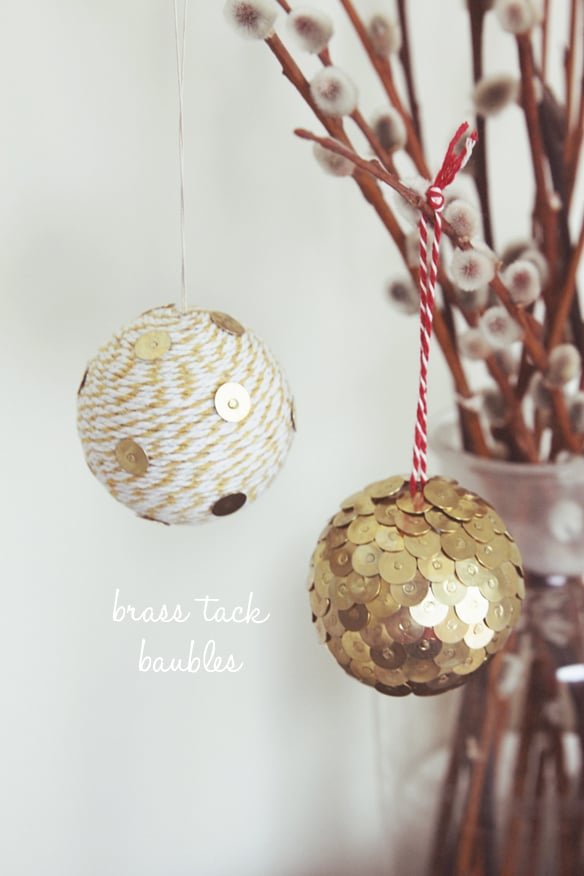Brass-Tack Ornaments