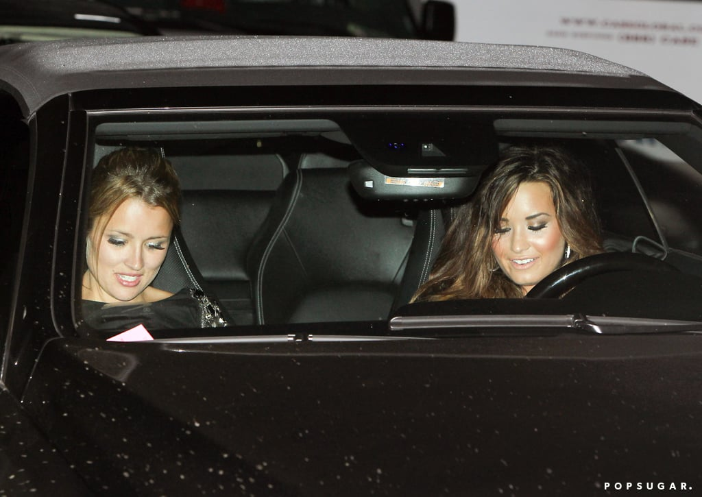 Demi Lovato left Kim Kardashian and Kris Humphries's August 2011 wedding ceremony in Montecito, CA.