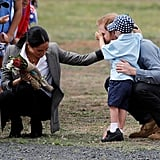 Prince Harry and Meghan Markle With Boy in Dubbo, Australia