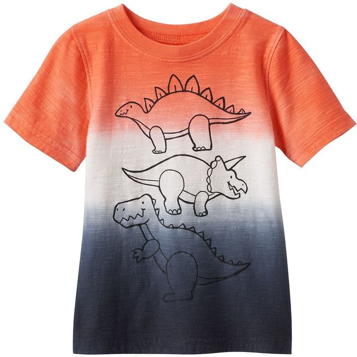Dip-Dyed Dinosaurs Graphic Tee