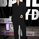 Rihanna's Stella McCartney jumpsuit feels just like a relaxed tuxedo, making it perfect for evenings.