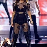 Selena Gomez Sheer Houghton Dress at WE Day Performance