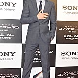 Andrew Garfield hit the red carpet at The Amazing Spider-Man premiere in Japan.