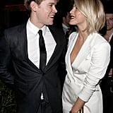 Julianne Hough and Chord Overstreet laughed together at GQ's afterparty.