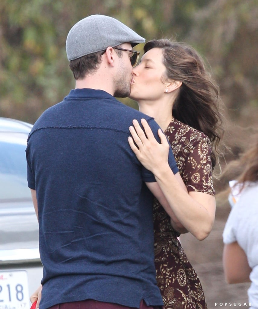 The pair shared a passionate kiss on the set of Jessica's movie, Shock and Awe, in November 2016.