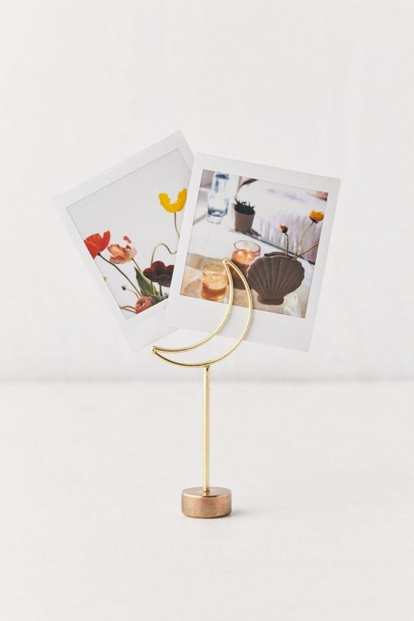 Crescent Moon Photo Clip Stand