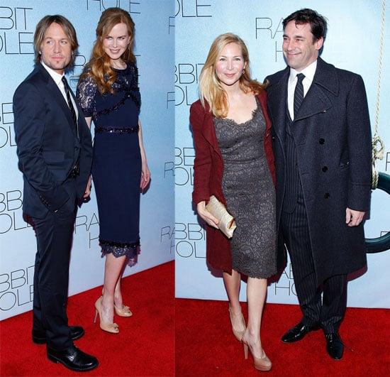 Pictures of Nicole Kidman, Aaron Eckhart, Jon Hamm, Jennifer Westfeldt, Sandra Oh at NYC Premiere of Rabbit Hole