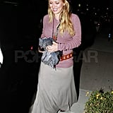 Hilary Duff stepped out wearing lots of accessories.