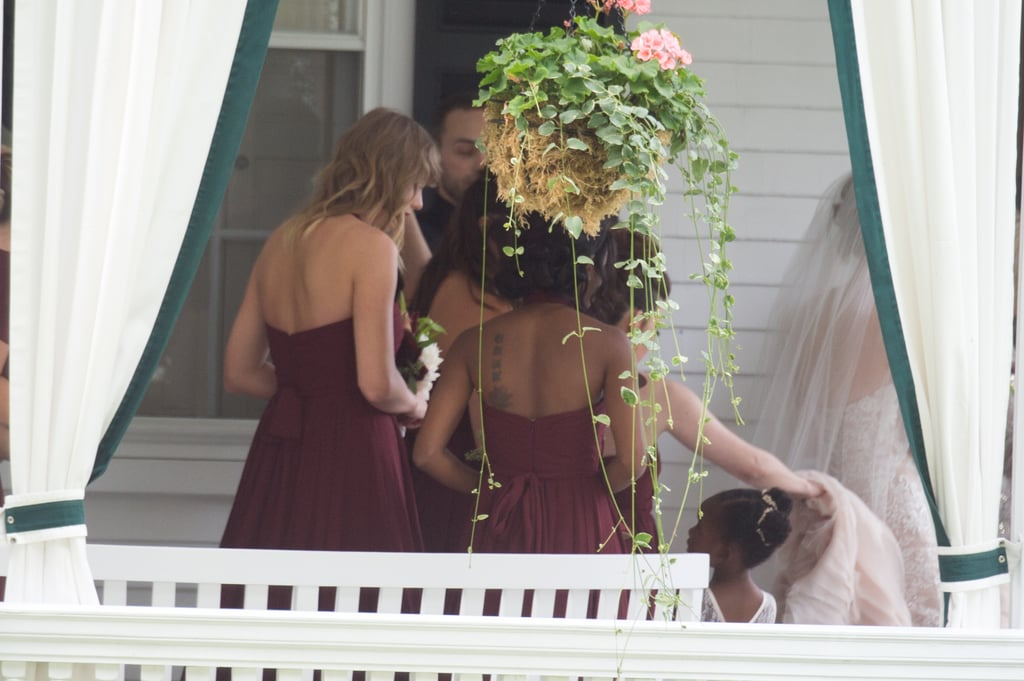 taylor swift at her best friend abigails wedding pictures