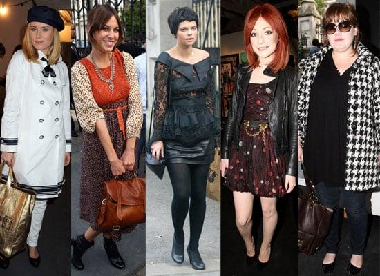 Photos Of Celebrities Attending London Fashion Week S/S 2009 Including Alexa Chung, Peaches Geldof, Roisin Murphy, Adele, etc
