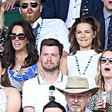 Andrea McLean and Kara Tointon at Day 6 of Wimbledon