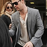 Chris Hemsworth did press at Radio One.