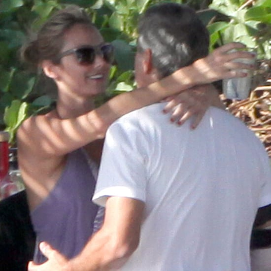 George Clooney and Stacy Keibler Hugging in Cabo Pictures