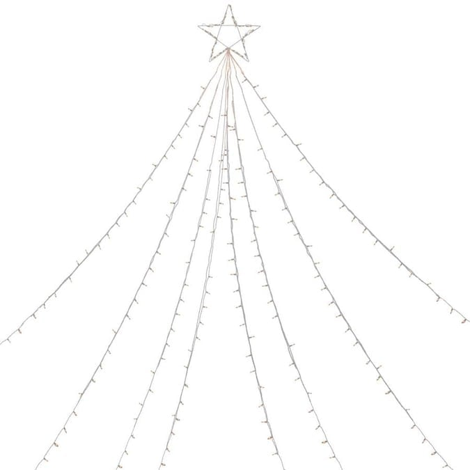 Northlight 12-ft Clear Lighted Christmas Display Tree Outdoor Decor Lowes.com