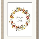 Pottery Barn Fall for Love Framed Print