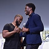 Pictured: Ryan Coogler and Chadwick Boseman