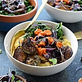 Roasted Brussels Sprout Polenta Bowls