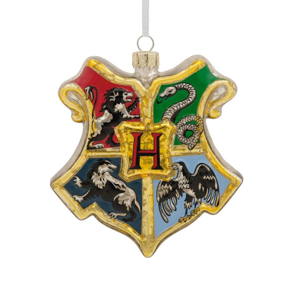 hallmark harry potter hogwarts houses glass shield christmas ornament