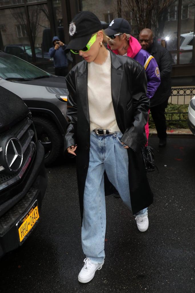 Hailey Bieber's Street Style at New York Fashion Week