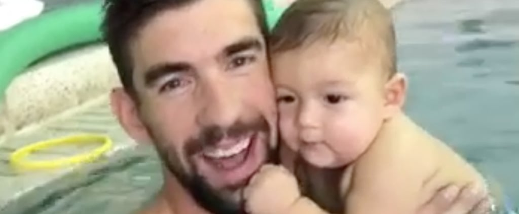 Michael Phelps Swimming With Boomer Video