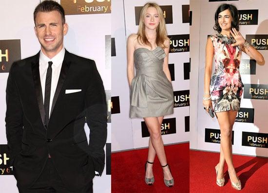Photos of Dakota Fanning, Camilla Belle, Chris Evans at the LA Premiere of Push